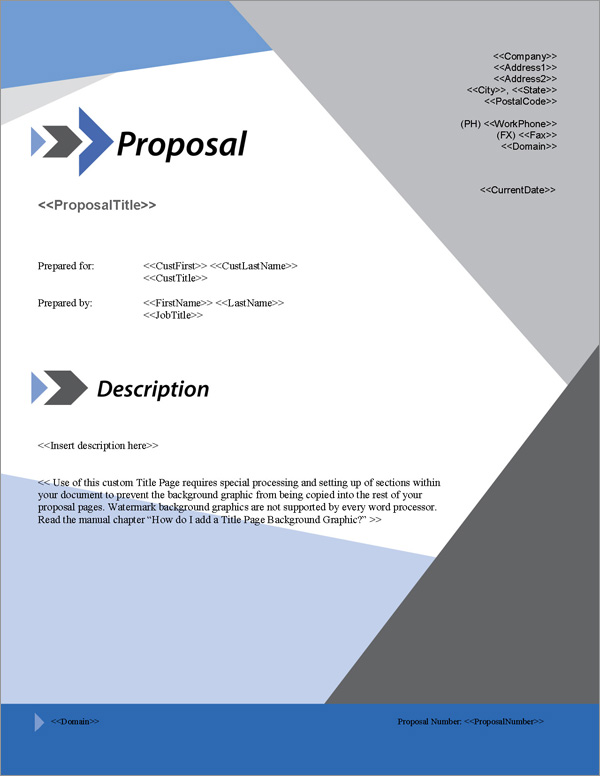 Proposal Cover Page Design oakandale