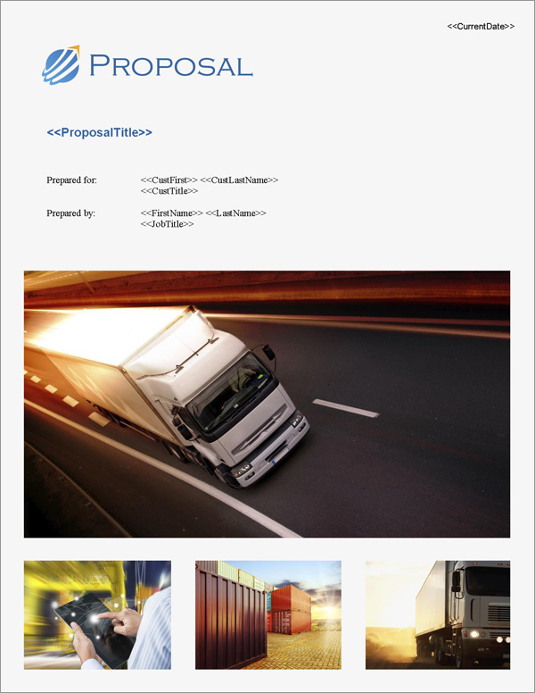 Proposal Pack Transportation #5 - Software, Templates, Samples