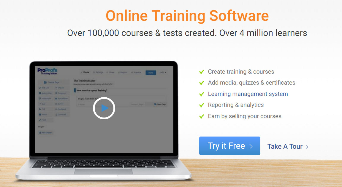 Online Training Software Create Free Training Course In 5 Min