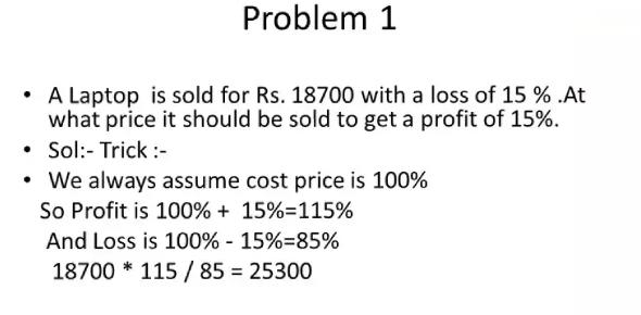 Profit And Loss Statement - ProProfs Quiz