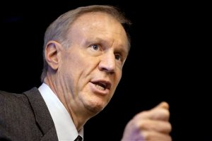 In this March 4, 2015 file photo, Illinois Gov. Bruce Rauner speaks at an event in Springfield, Ill. Rauner says his plan to privatize the state's economic development agency will improve job creation in Illinois. But similar plans in other states have sometimes created legal and ethical problems, as well as concerns that taxpayers had no way of knowing how their money was being spent. Ohio, Indiana Michigan and other states have experienced problems with transparency. In some cases private economic development agencies have overstated how many jobs they help create. Jim Schultz is Rauner's new director of the Department of Commerce and Economic Opportunity. He said a private corporation would be more agile in its ability to quickly negotiate. It could also pay more to recruit employees. And Schultz believes Illinois can learn from problems in other states. (AP Photo/Seth Perlman)