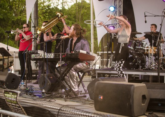 Photo by Billi Jo Hart | Prospectus News Sun Stereo, a band hailing from Urbana, Ill., performs on the Campfire Stage at Summer Camp Music Festival in Three Sisters Park, Chillicothe, Ill. on Sunday, May 24, 2015.