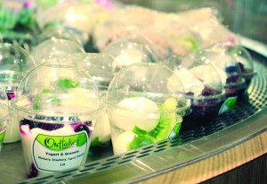 Photo by Billi Jo Hart | The Prospectus Choices like yogurt & granola cups are one of the many options Parkland's café offers.
