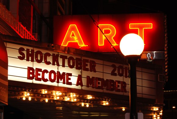 "Photo by Sarah Powers | The Prospectus Downtown Champaign's Art Theater brings community members to the screen for its third annual ""Shocktober"" series with the best of the best horror movies all October."