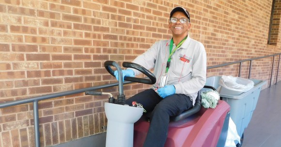 Photo by Anna Watson   Gary Smith has been a Parkland custodian for 10 years, and he says there are good and bad days that come with the job.