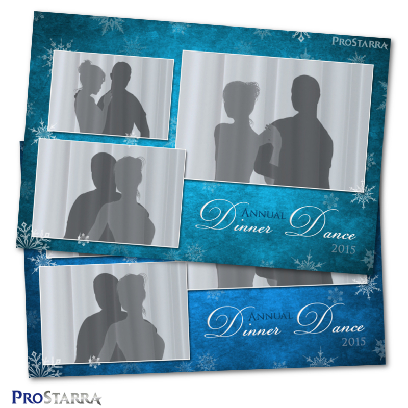 Canvas of Snowflakes 4×6 inch Christmas Photo Booth Template