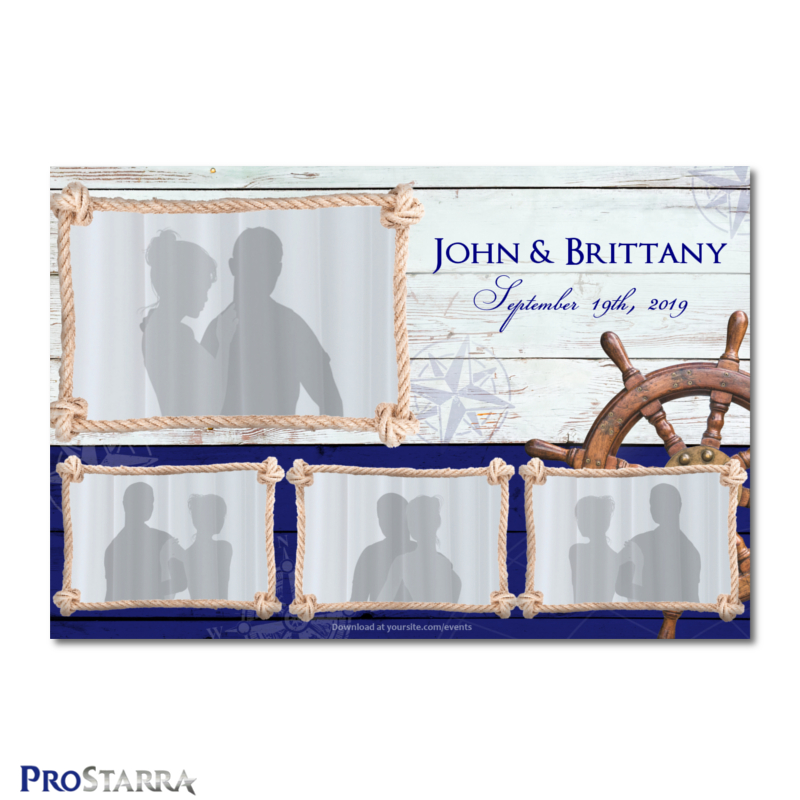 Tying the Knot Nautical Theme 6×4 inch Wedding, Party, and Special - po booth template