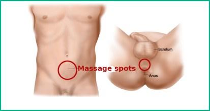 Prostate massage point locations