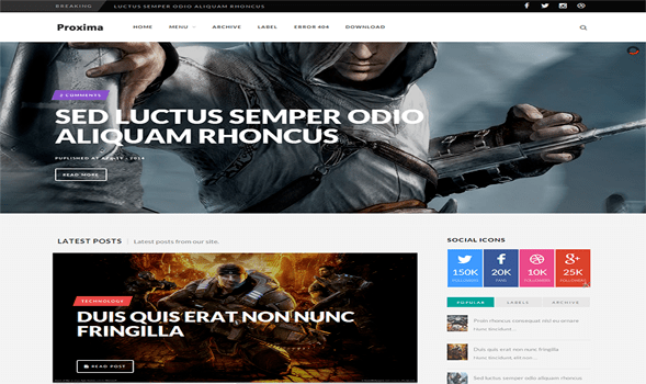 Proxima9-Game-Responsive-Blogger-Template