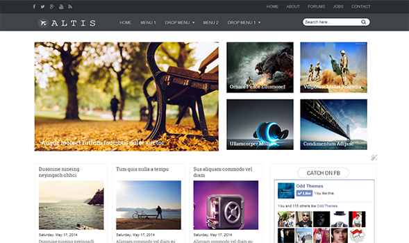 Altis Responsive Blogger Template