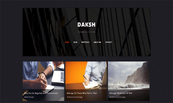 Daksh-Blogger-Template