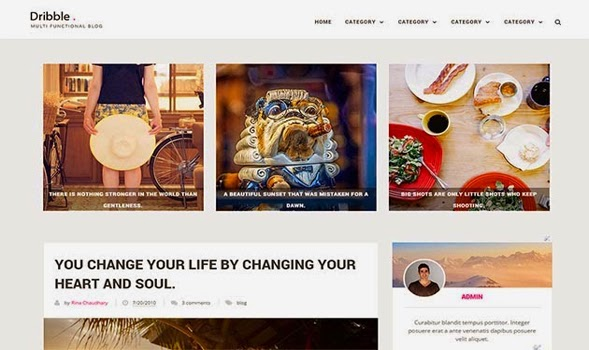 Dribble-Clean-Blogger-Template
