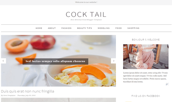 CockTail-Responsive-Blogger-Template