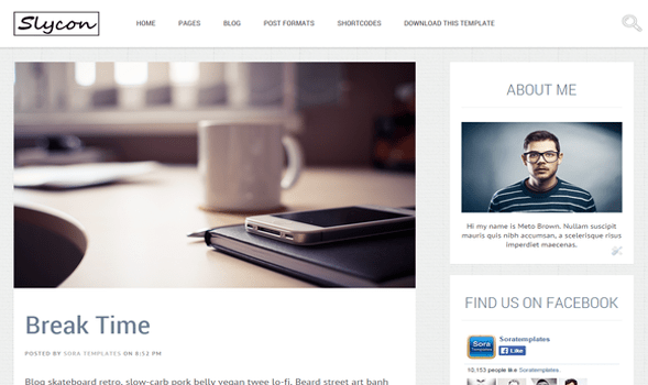 Sycon-Blogger-Template