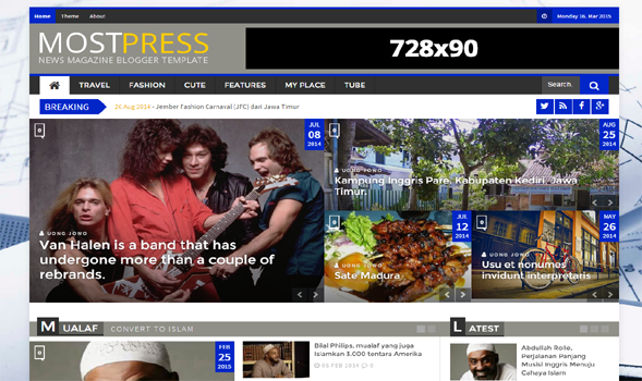 Most-Press-Responsive-Blogger-Template