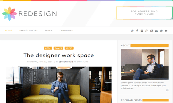 ReDesign-Blogger-Template