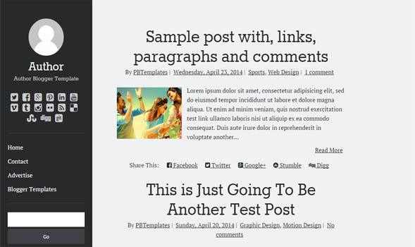 Author-Blogger-Template