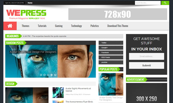 WePress-Responsive-Blogger-Template