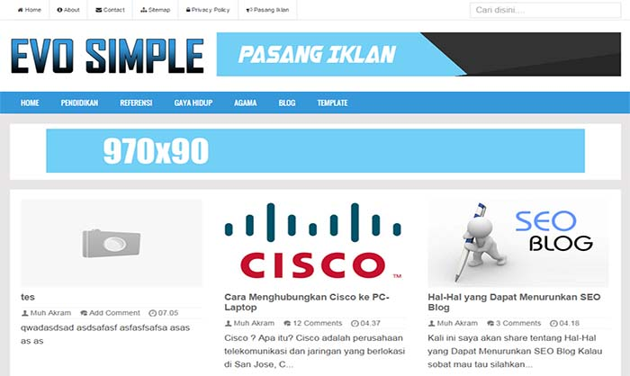 Evo simple blogger template pronofoot35fo Images