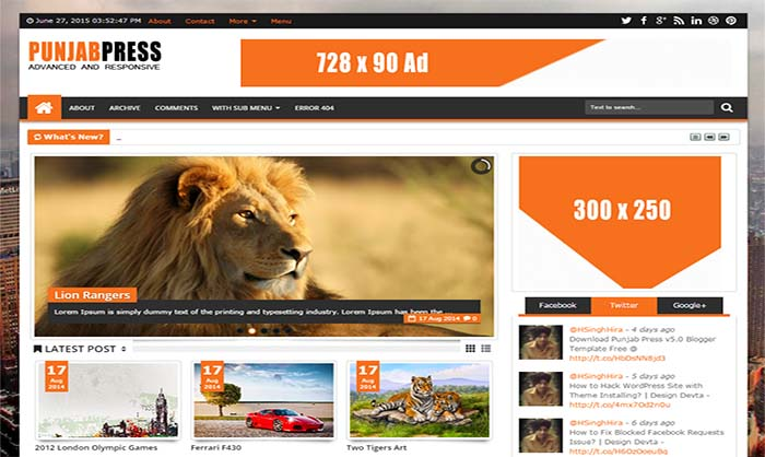Punjab-Press-V5-Blogger-Template