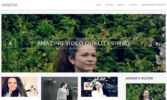 Vanesa-Blogger-Template