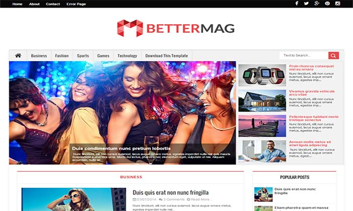 Better Mag Blogger Template