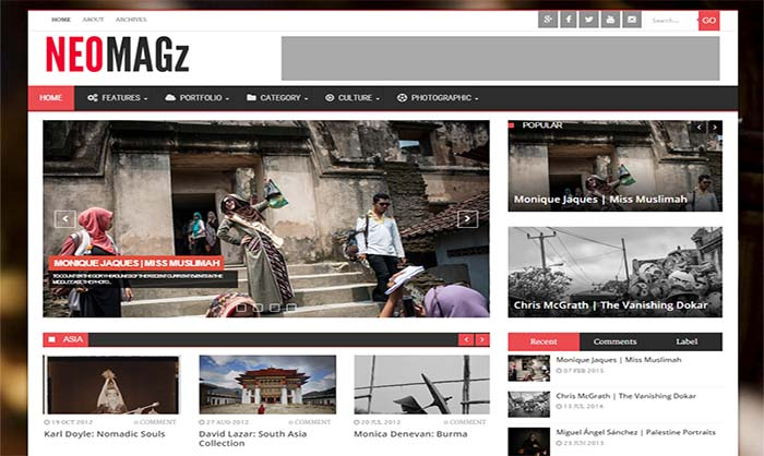 NEOMagz Blogger Template