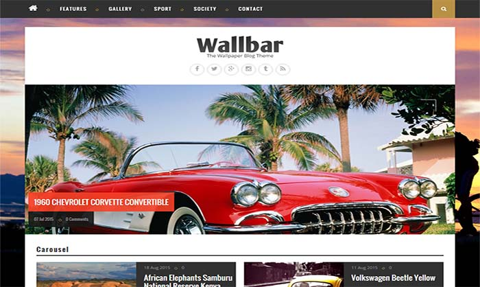 Wallbar Blogger Template