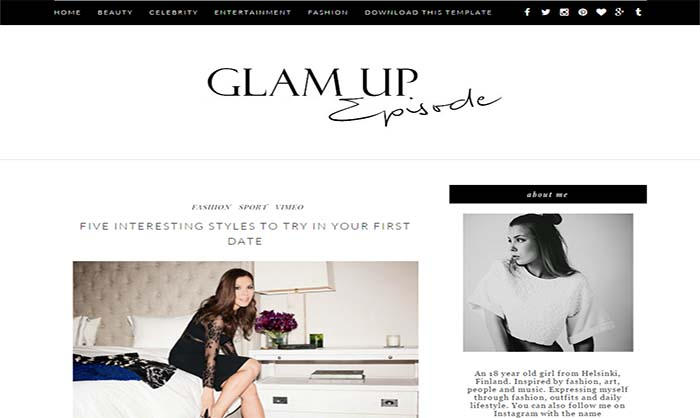 Glam Up-Blogger-Template
