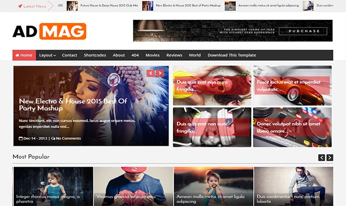 Ad Mag Blogger Template