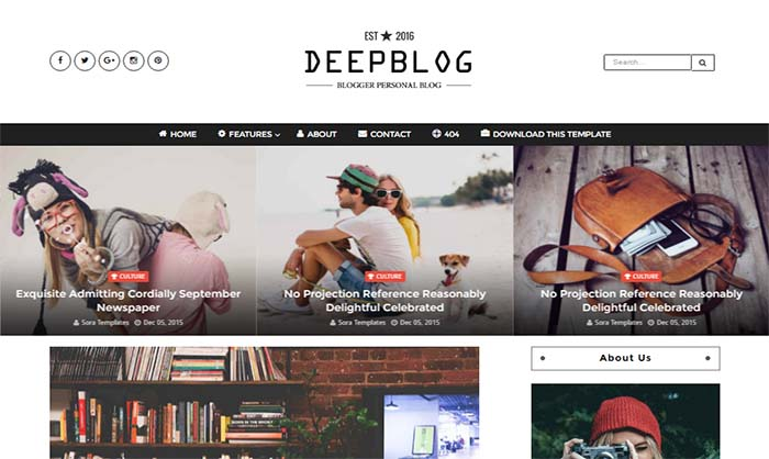 Deep Blogger Template