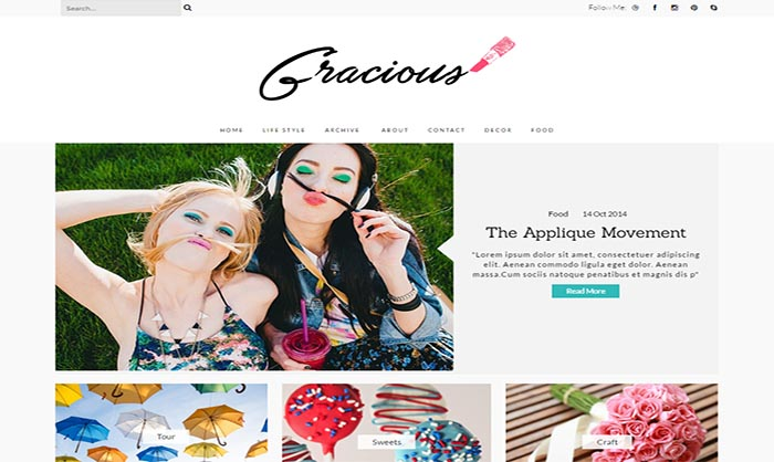 Gracious Blogger Template