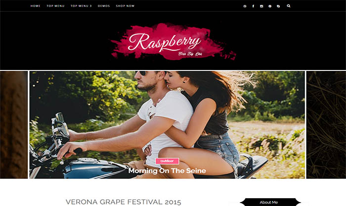 Raspberry Blogger Template