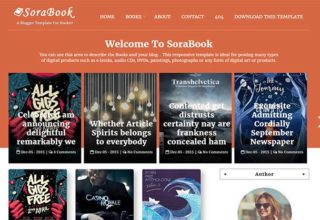 sora book blogger template