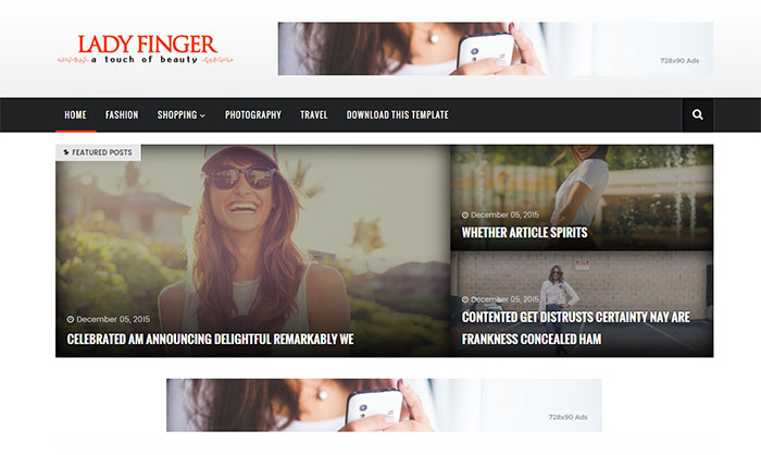 lady finger blogger template