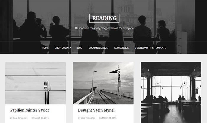 reading blogger template