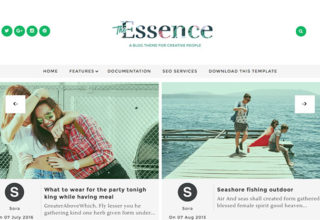The Essence Blogger Template