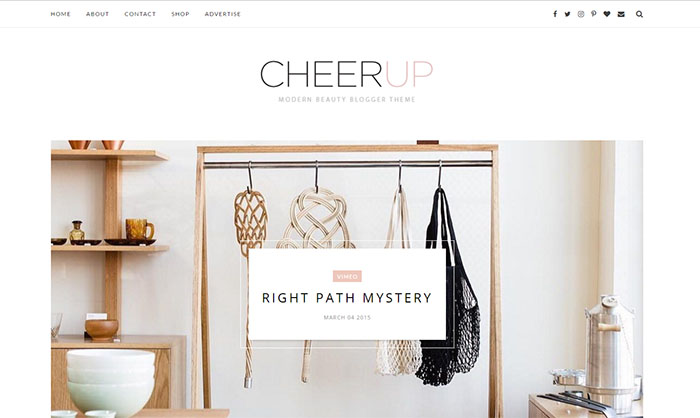 CheerUp Blogger Template