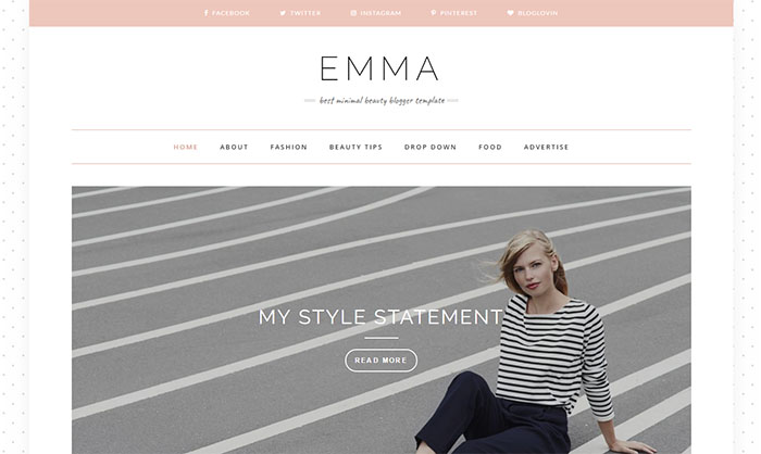 Emma Blogger Template