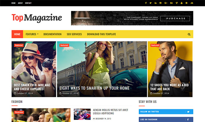 Top Magazine Blogger Template