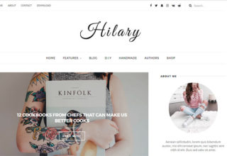 Hilary Blogger Template