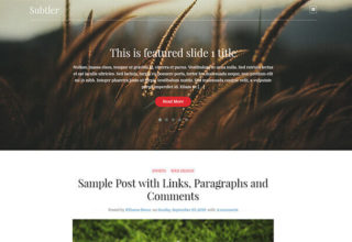 Subtler Blogger Template