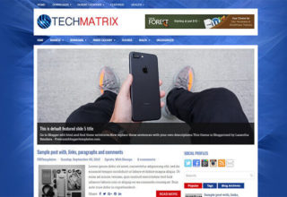 TechMatrix Blogger Template