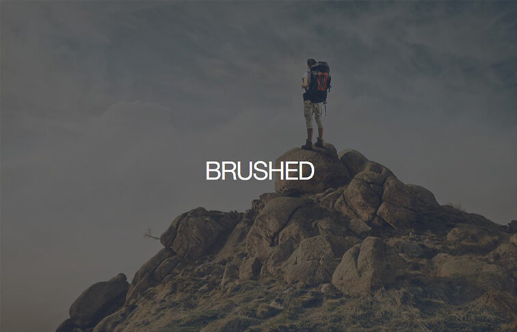 Brushed CSS3 Website