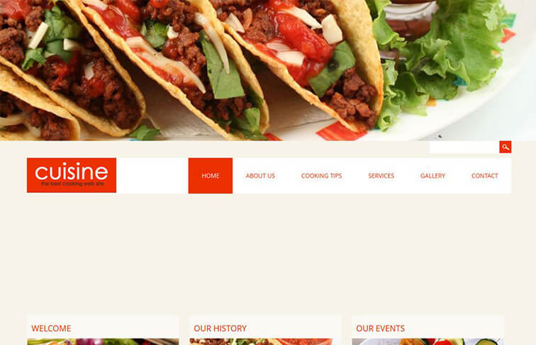 Cuisine Website Template