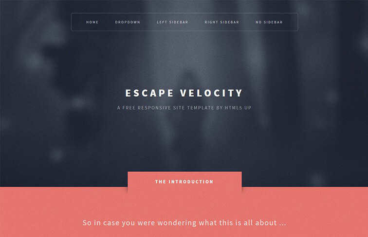 Escape CSS3 Website