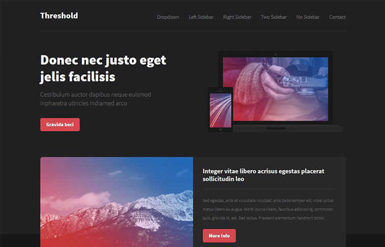 Threshold Free Responsive HTML5