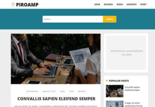 Piroamp Blogger Template