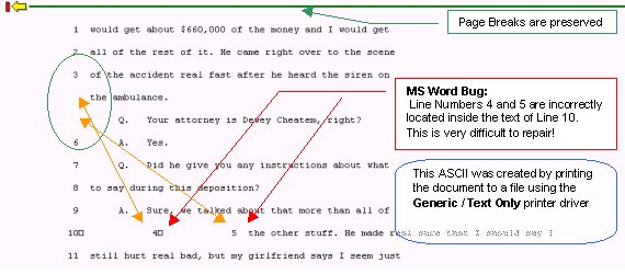 Converting MS Word files to ASCII