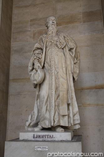 Versailles L'Hopital statue calculus rule